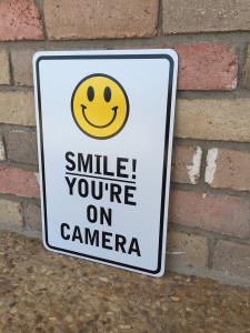 aluminum smile sign edit