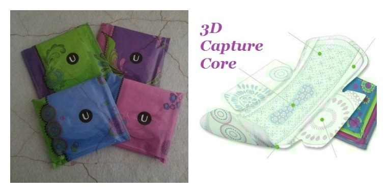 Capture Core Kotex pads
