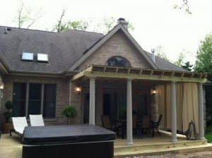 deck overview with gazebo