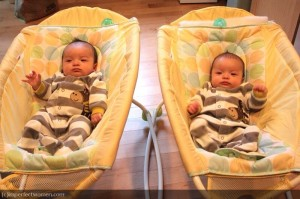 twins in chair