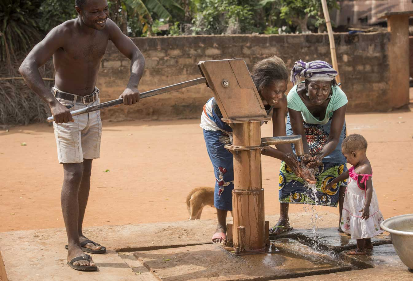 Charitable water pump