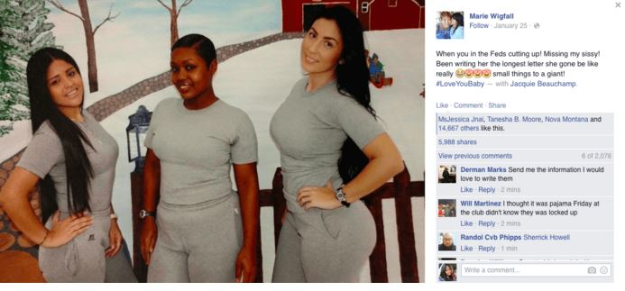 PHOTO OF FEMALE INMATES AT FEDERAL PENITENTIARY GOES VIRAL