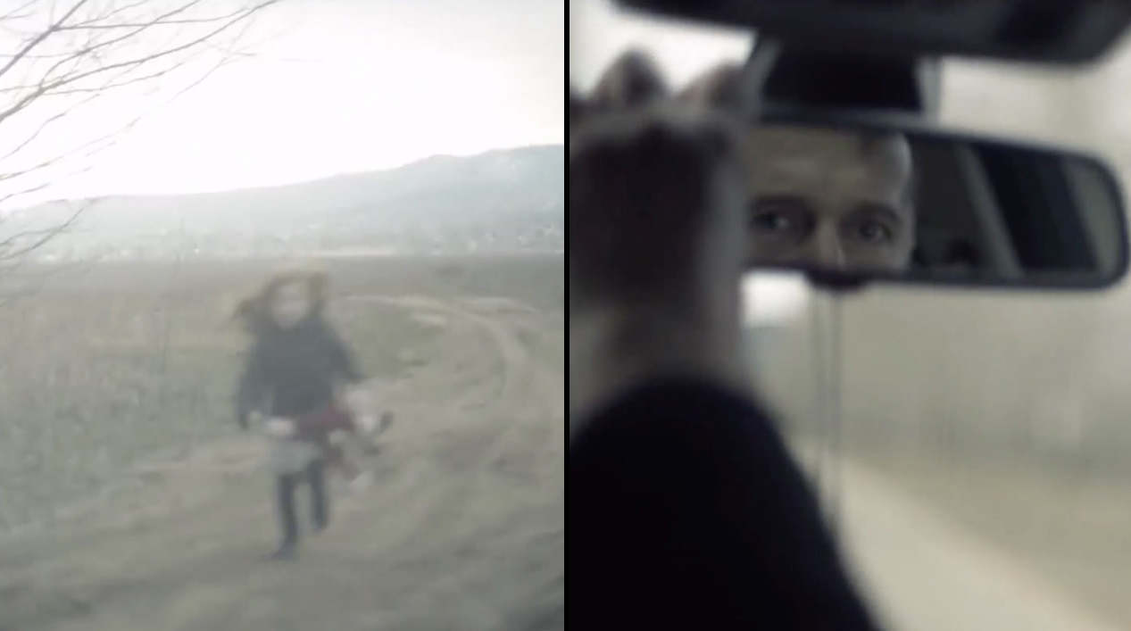 Dad Abandons Little Girl On Dirt Road, Then He Looks Into The Rear View Mirror 1