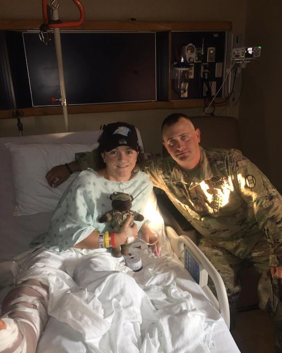 Soldier Shields Woman From Exploding Car: 'It's going to have to go through me to get to you' 1