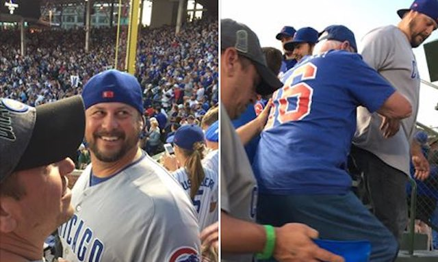 Cubs Fans Help Elderly Man With Cancer Enjoy Playoff Game: 'I just love this!' 1