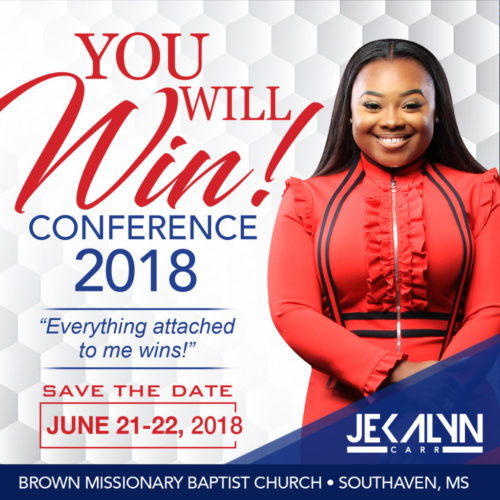 Jekalyn Carr To Host Her First 'You Will Win Conference' June 21-22 in SouthHaven, MS
