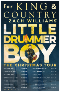 for KING & COUNTRY announce Little Drummer Boy Christmas Tour