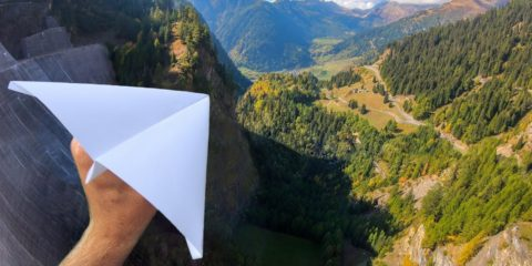 How Ridiculous: Throwing Paper Airplanes from 165m Dam!