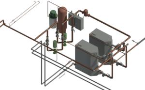 3D Model of the New Boilers Designed to Serve the Rattlesnake Elementary School.