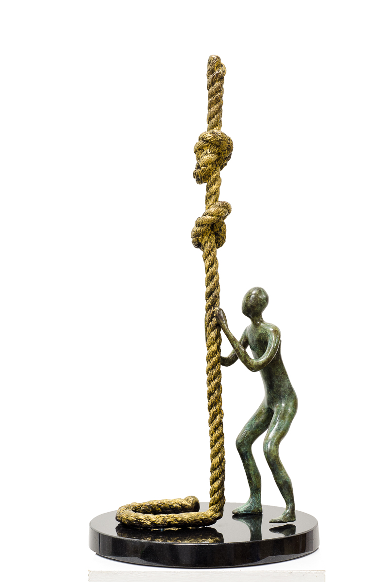 Two Knots to the Heavens, bronze sculpture by Beatriz Gerenstein