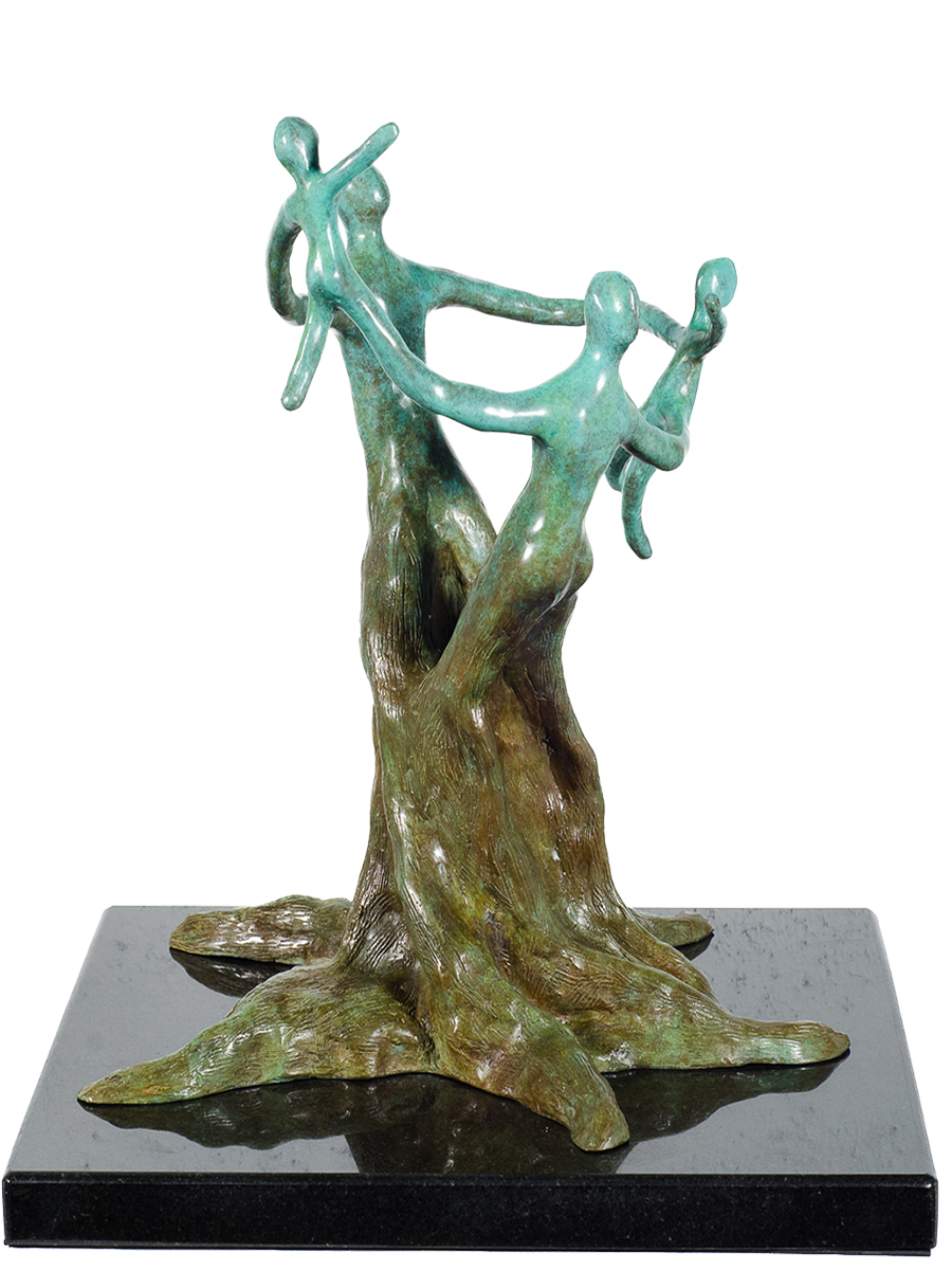 Fruits of Life, bronze sculpture by Geatriz Gerenstein