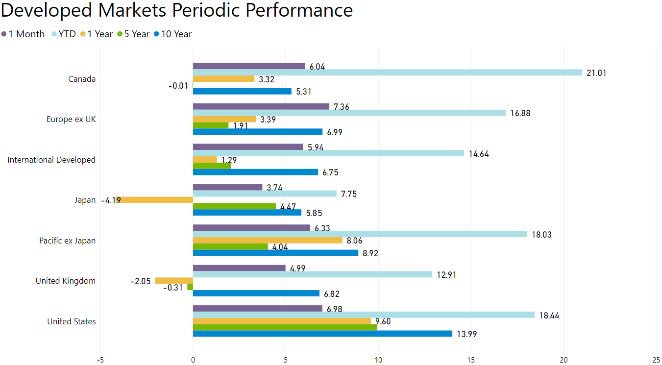 developed markets performance
