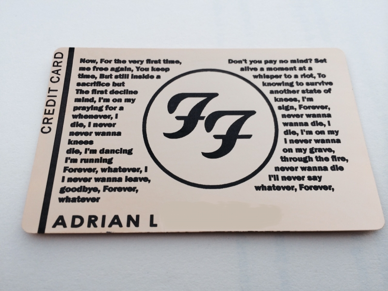 Custom Black Card foo fighters