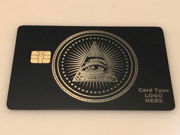 All seeing eye metal credit card