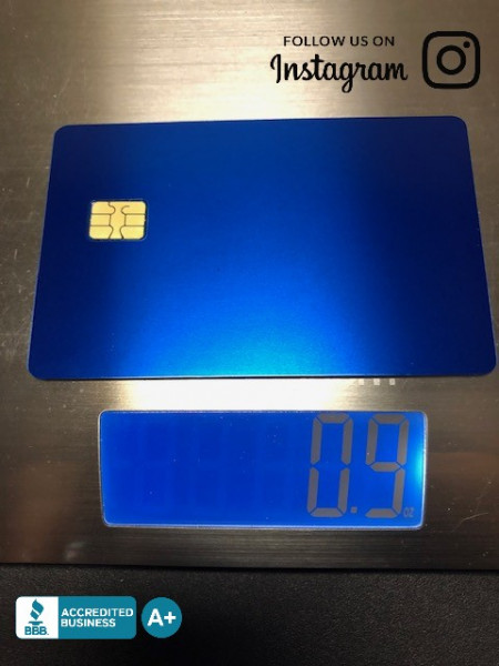 Anodized-Blue-Metal-Credit-Card-front-weight
