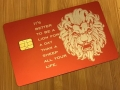 custom red metal credit card