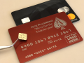 red custom metal credit card