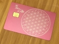 scared geometry metal pink card