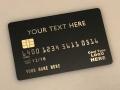 custom matte-black metal credit card