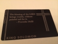 Custom Black Metal Credit Card Religious