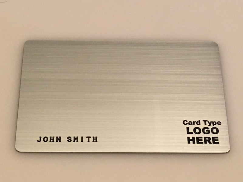 Brushed Stainless Steel Metal Template #2
