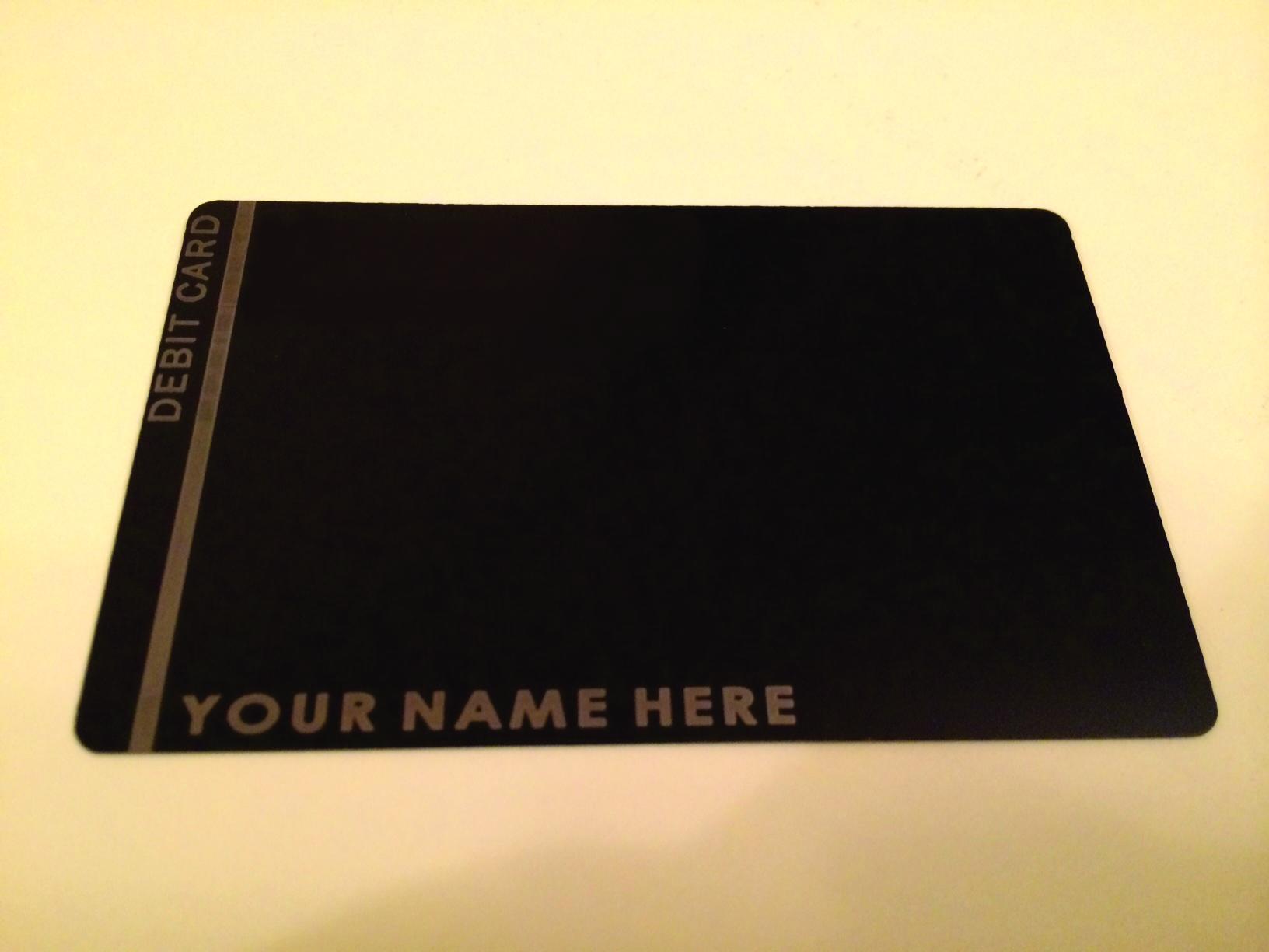 custom metal black card, metal credit card