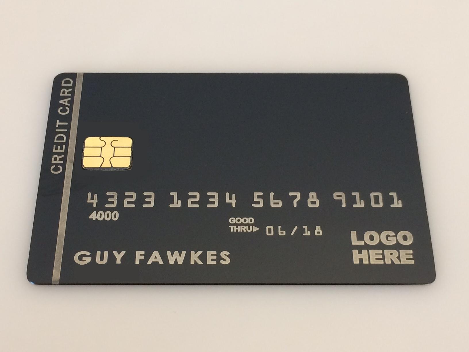 EMV chip Cards metal black cards