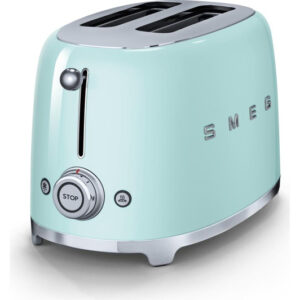 Smeg 2 Slice Toaster in Pastel Green and available in 7 retro colors!