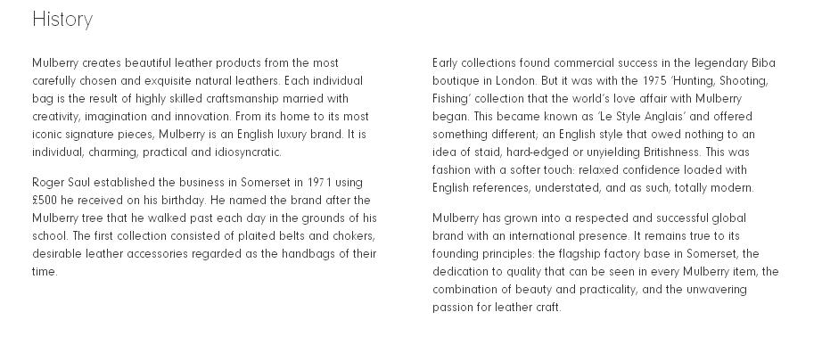 mulberry history