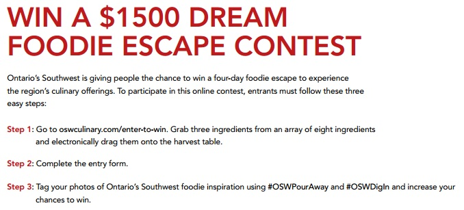 The Foodie Escape Contest