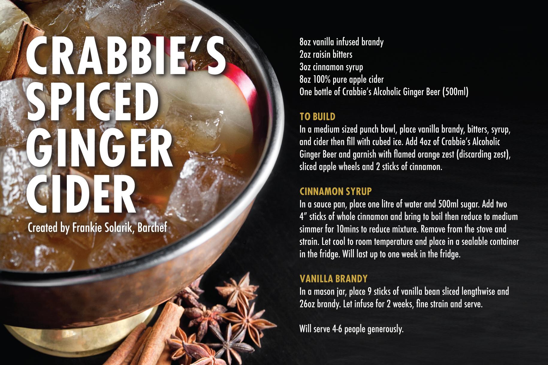 Crabbie's Spiced Ginger Cider - Recipe Card