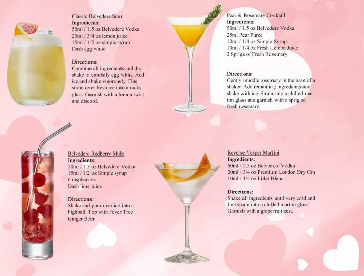 Belvedere Vodka Cocktails DoTheDaniel.com Valentine's Day