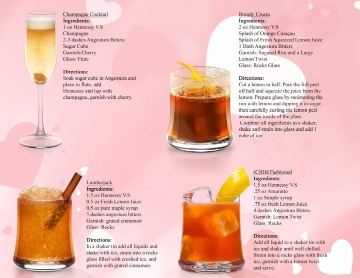 Hennessy Cocktails DoTheDaniel.com Valentine's Day