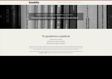 Acceso a la página de servicios editoriales de Bookolia: edición, coedición, publicación y promoción de libros. Digitales e impresos.
