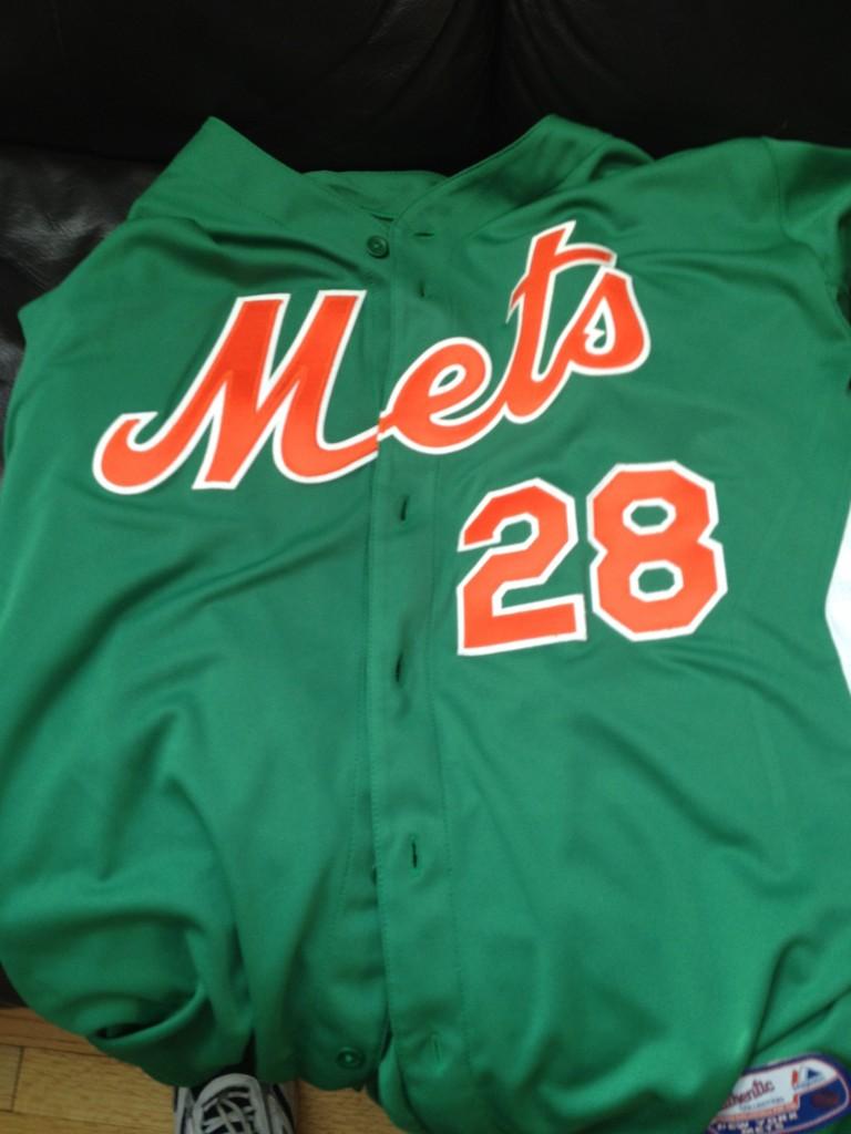 mets 2012 st. patrick's day jersey daniel murphy metspolice.com
