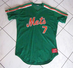 early 1990's mets st. patrick's day jersey