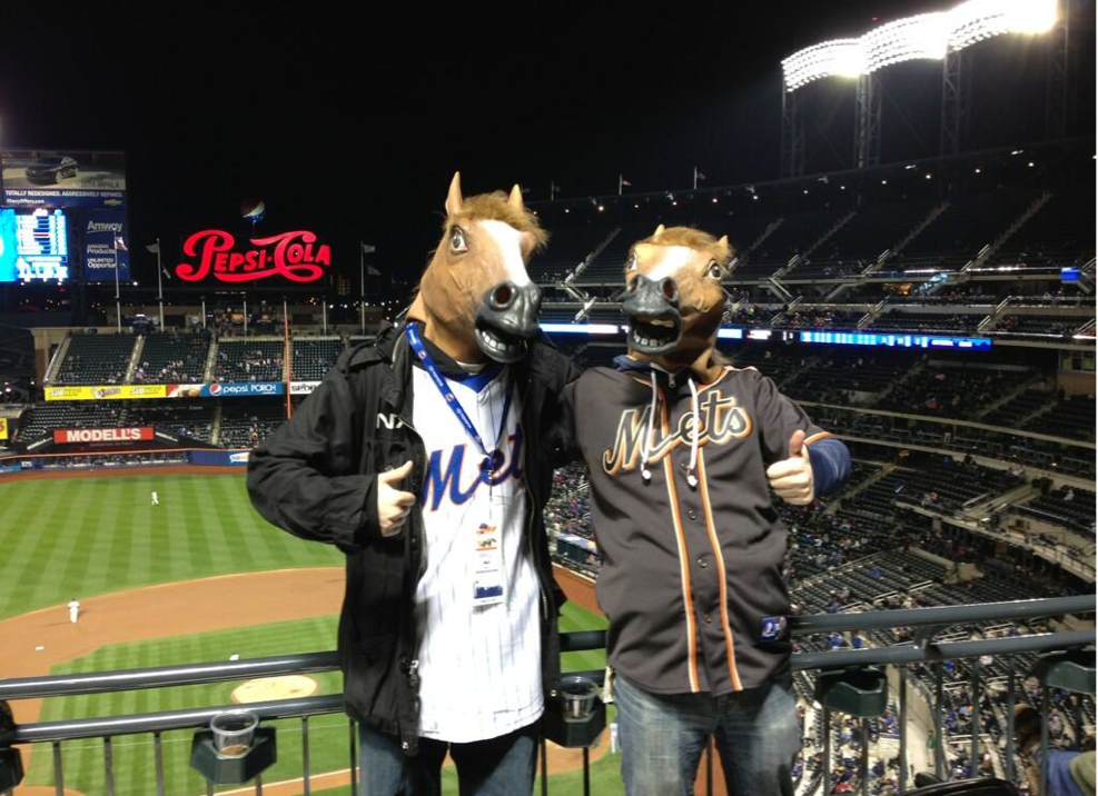 horse guys at Mets game