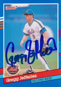 Dtwohigs Autographed Baseball Cards 63 Greg Jeffries