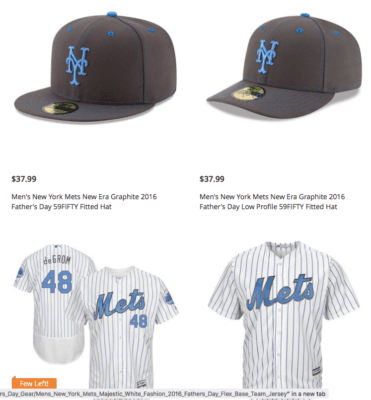 100% authentic 4afcb fa311 Once again, the Mets Father's Day caps and jersey collection ...