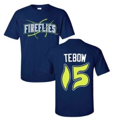 brand new f8673 c38da Fireflies restocked the Tim Tebow T-Shirts! - The Mets Police