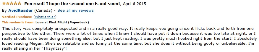 Amazon.ca Love at First Plight review 3