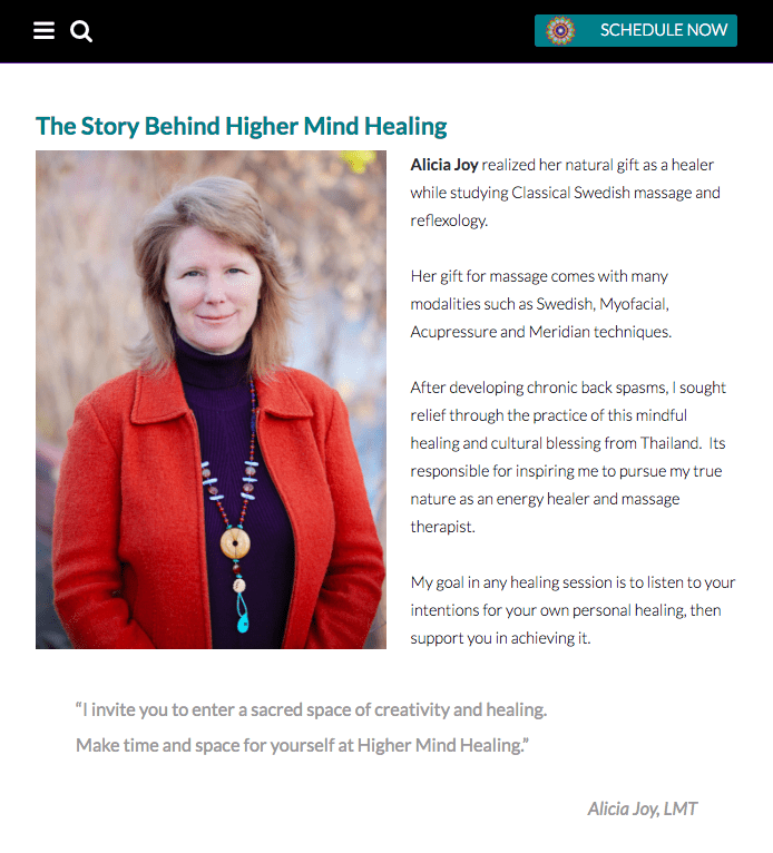 arvada web design, higher mind healing, alicia joy