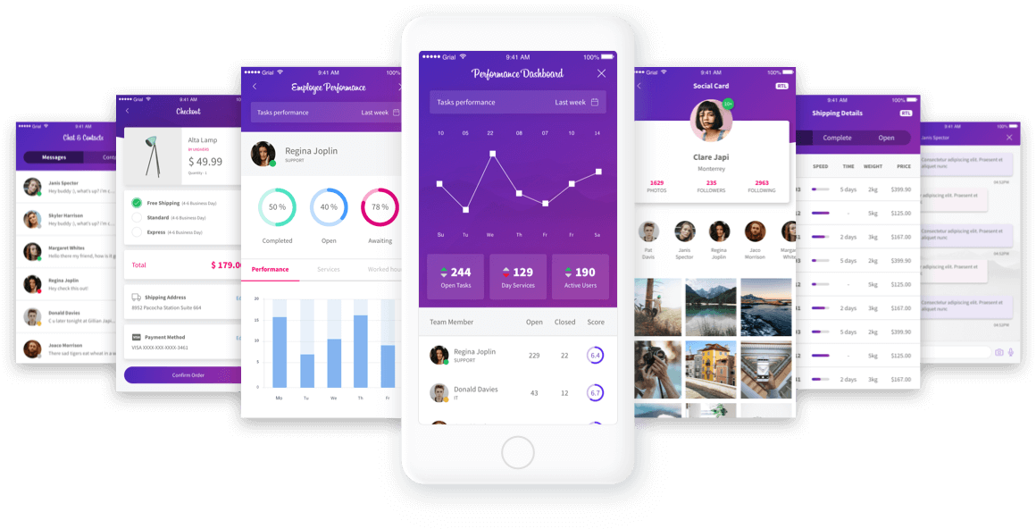 Grial UI Kit preview