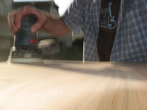 radial sander taking on the diy kitchen table project