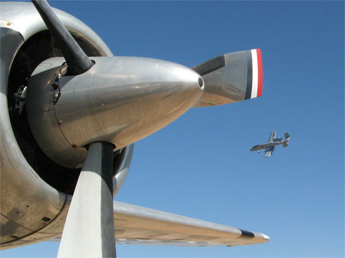 A-10 flying at Davis-Monthan AFB