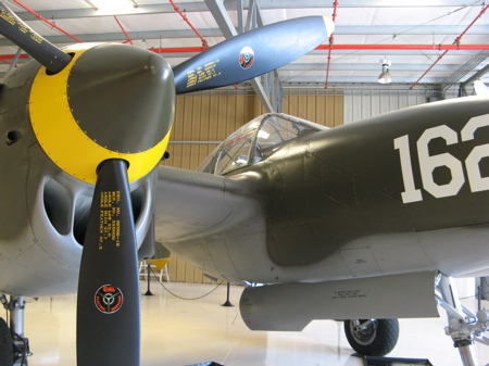 p-38 lightning at the planes of fame museum in Chino, California