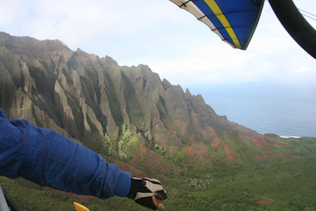 Powered Hang Glider on Kauai