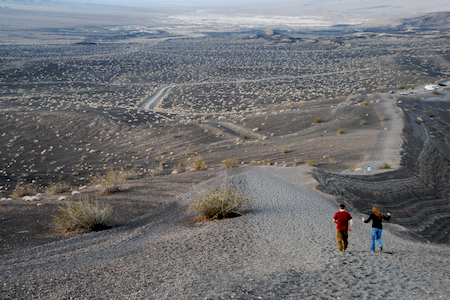 DLF and DDF skip along the Ubehebe Crater