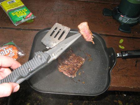Dinner at Rainy Potwisha Campground