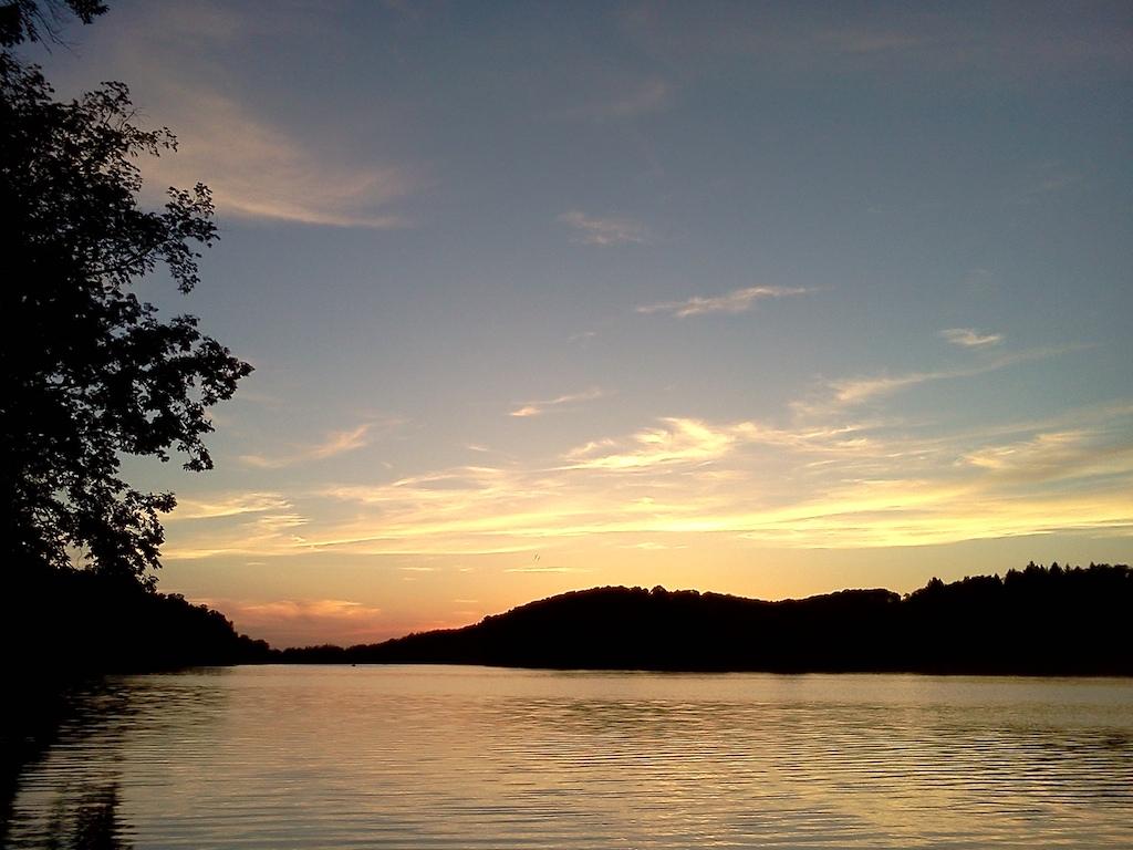 Sunset at Keystone Lake, Pennsylvania